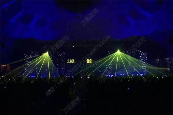 北京博瑞大厦凝爱日五周年举办楼体激光秀-万圣光电